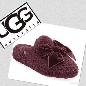 Ugg Velvet bow slippers